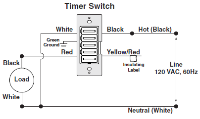 timer switch wiring