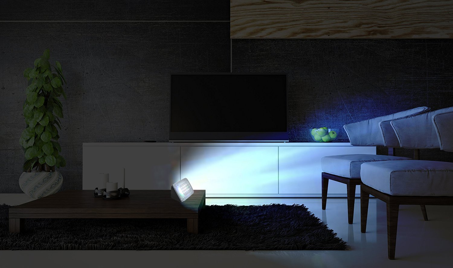 Your home may be empty but from the outside it looks like your watching TV