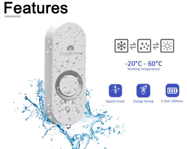 mydome doorbell md-dc1-2 transmitter features image